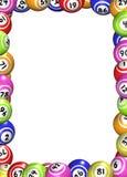 Marco de las bolas del bingo Foto de archivo libre de regalías