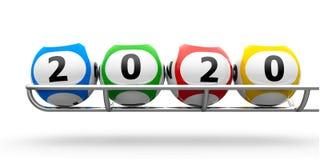 Marco de las bolas 2020 de la lotería libre illustration