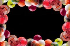 Marco de las bolas que despiden Fotografía de archivo