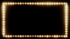 Marco de las bombillas para una frontera de la película ilustración del vector