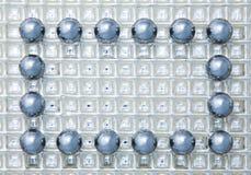 Marco de las esferas de acero fotografía de archivo libre de regalías