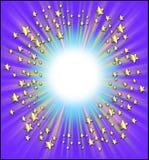 Marco de las estrellas fugaces Fotografía de archivo