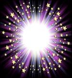 Marco de las estrellas fugaces Imágenes de archivo libres de regalías