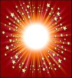 Marco de las estrellas fugaces Foto de archivo libre de regalías