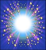 Marco de las estrellas fugaces Imagen de archivo libre de regalías