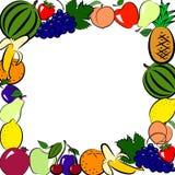 Marco de las frutas Fotos de archivo libres de regalías