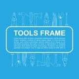 Marco de las herramientas Fotos de archivo libres de regalías