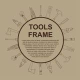 Marco de las herramientas Foto de archivo libre de regalías
