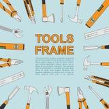 Marco de las herramientas Imagen de archivo libre de regalías