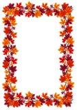 Marco de las hojas de arce del otoño. Ejemplo del vector. ilustración del vector