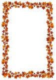 Marco de las hojas de arce del otoño. Ejemplo del vector. Fotos de archivo libres de regalías