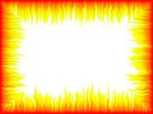 Marco de las llamas stock de ilustración