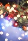 Marco de las luces de la Navidad imágenes de archivo libres de regalías