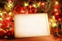 Marco de las luces de la Navidad Imagen de archivo