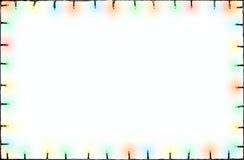 Marco de las luces de la Navidad Imagenes de archivo