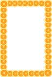 Marco de las naranjas Imagenes de archivo