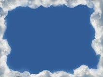 Marco de las nubes ilustración del vector