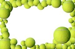 Marco de las pelotas de tenis Imagen de archivo