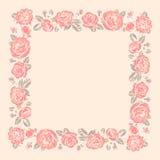 Marco de las rosas plantilla ilustración del vector