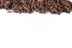 Marco de las semillas de cacao Imagen de archivo libre de regalías