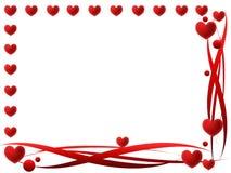 Marco de las tarjetas del día de San Valentín Fotos de archivo libres de regalías