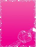 Marco de las tarjetas del día de San Valentín Imagen de archivo libre de regalías