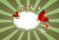 Marco de las tarjetas del día de San Valentín Foto de archivo
