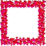 Marco de las tarjetas del día de San Valentín - vector Fotografía de archivo libre de regalías