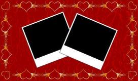 Marco de las tarjetas del día de San Valentín Fotos de archivo