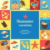 Marco de las vacaciones Imagen de archivo