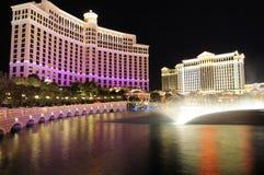 Marco de Las Vegas na noite Fotos de Stock Royalty Free