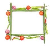 Marco de las verduras imágenes de archivo libres de regalías