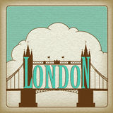 Marco de Londres, ponte da torre. Fotografia de Stock Royalty Free