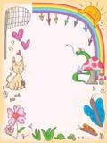 Marco de los amigos de las mariposas libre illustration