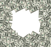Marco de los billetes de banco del dólar. Corrección del recortes incluida Imagen de archivo libre de regalías