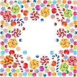 Marco de los caramelos Imagen de archivo libre de regalías