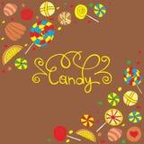 Marco de los caramelos Imagen de archivo