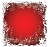 Marco de los copos de nieve Fotografía de archivo libre de regalías