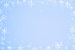 Marco de los copos de nieve fotografía de archivo