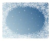 Marco de los copos de nieve stock de ilustración