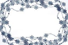 Marco de los copos de nieve Fotos de archivo libres de regalías