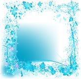 Marco de los copos de nieve de Grunge ilustración del vector