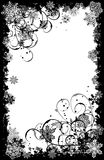 Marco de los copos de nieve de Grunge, vector Imagenes de archivo