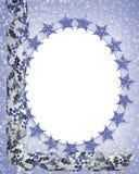 Marco de los copos de nieve de la Navidad Imagen de archivo