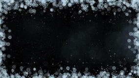 Marco de los copos de nieve del Año Nuevo almacen de video