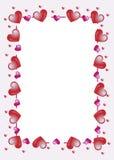 marco de los corazones Fotos de archivo