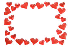 Marco de los corazones Fotografía de archivo