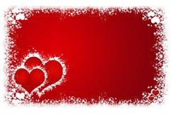 Marco de los corazones de las tarjetas del día de San Valentín Imagen de archivo libre de regalías