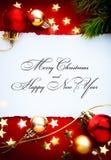 Marco de los días de fiesta de la Navidad del arte Foto de archivo libre de regalías