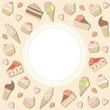 Marco de los dulces. Imágenes de archivo libres de regalías